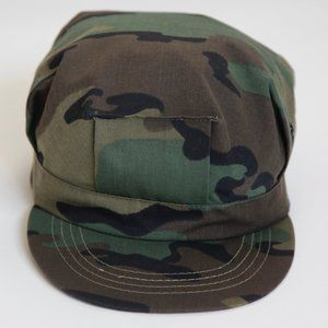Vintage Army Military Woodland Camouflage Camo Hat